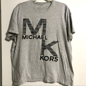 Grey Short Sleeve Tee with Black MK Graphic